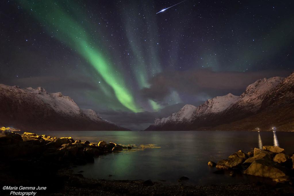 Iridium Flare | While taking photographs of the Aurora Borea