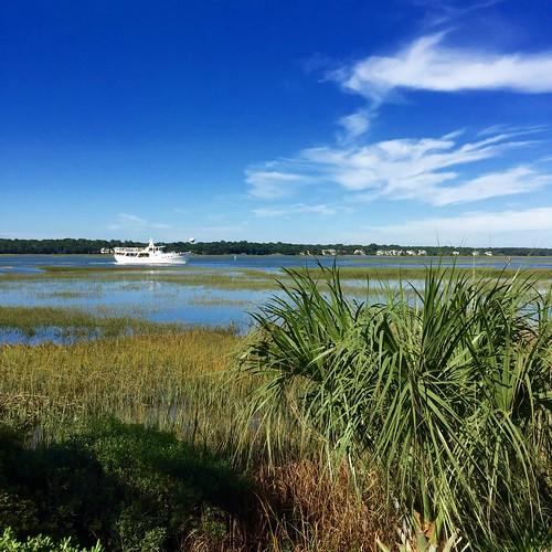 southcarolina broadcreek square blue green appleiphone6 2015 clouds marsh shadows white hiltonheadisland