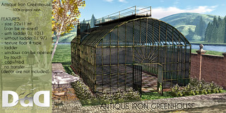 Antique Iron Greenhouse AD | by Sheerpetal Roussel - DaD - virtual living -