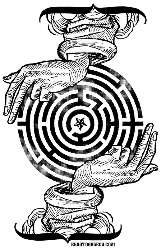 the star at the center of the maze