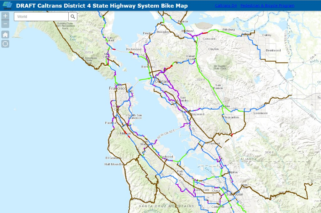 Caltrans Districts Map on
