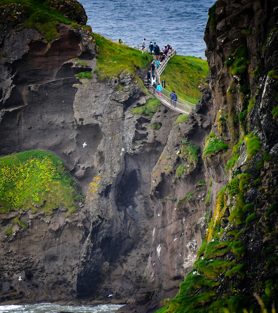 Carrick-a-Rede Rope Bridge - Ballintoy in County Antrim Northern Ireland