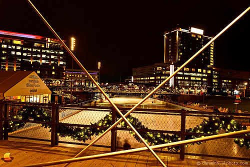 christmas bridge urban ny newyork ice festive photography lights buffalo holidays downtown cityscape waterfront decoration illumination skate rink boardwalk canalside etbtsy
