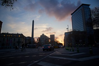 Barcelona - Sunset Over Avinguda Diagonal | by djidji.perroto