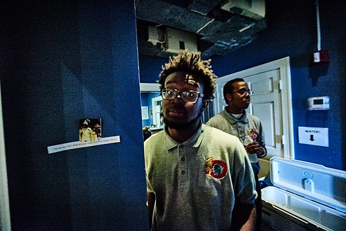 In the hallway. Photo by Eli Mergel