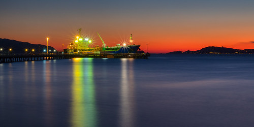 bluehour cargoship citylandscape coastallandscape colourful colours evening harbour huttcity landscape longexposure lowerhutt lowrybay nature newzealand northisland pointhoward port reflection seafront seaport seascape seaside ship transportation twilight watertransport waterfront wellington cityscape nz