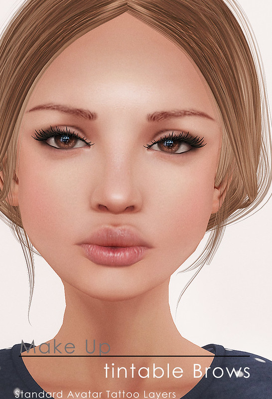 Tintable Brows (white) for Standard Avatars