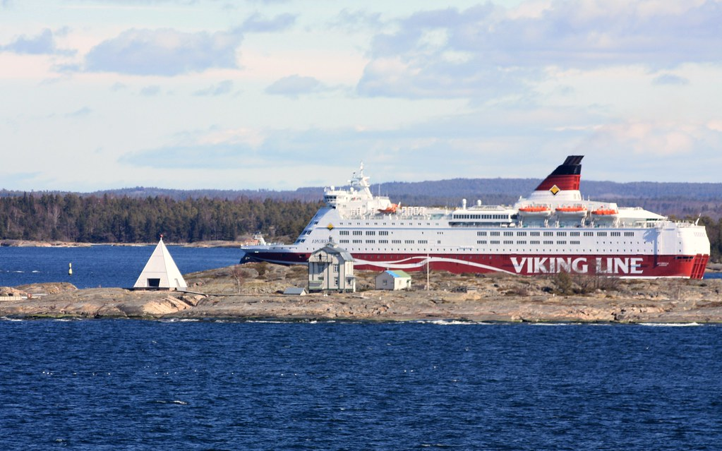 Ms Amorella is going to Island of Åland near by old pilot-station.