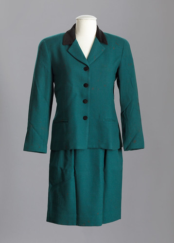 Wool women's suit, worn by Ambassador Prudence Bushnell