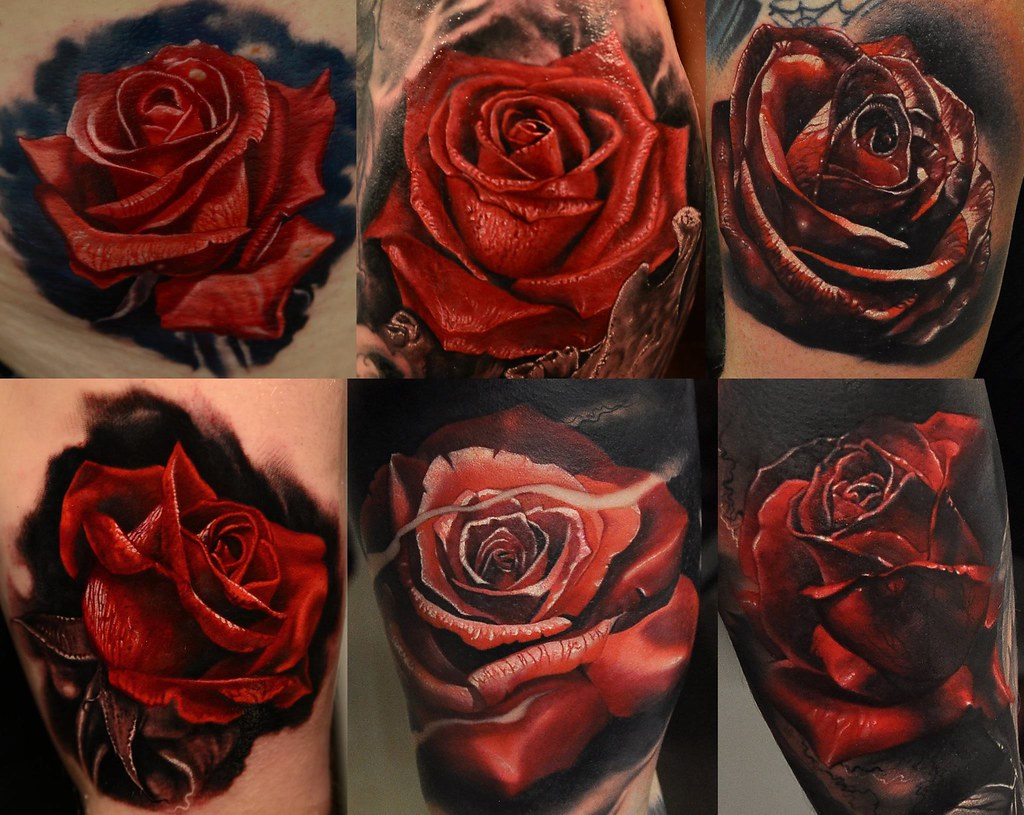 Realistic Red Rose Tattoo Paisley Sile Sanda Flickr