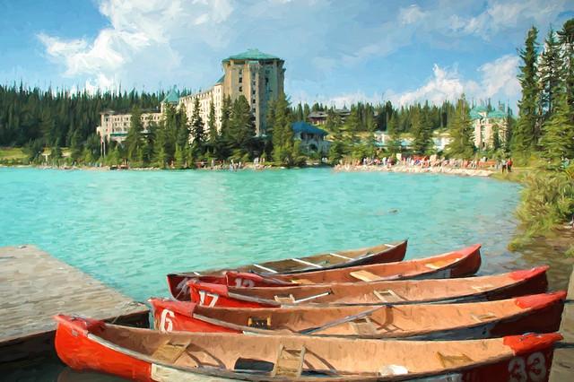 Chateau Lake Louise - Textured