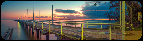 art sunrise australia queensland bluehour herveybay panoramicimage uranganpier