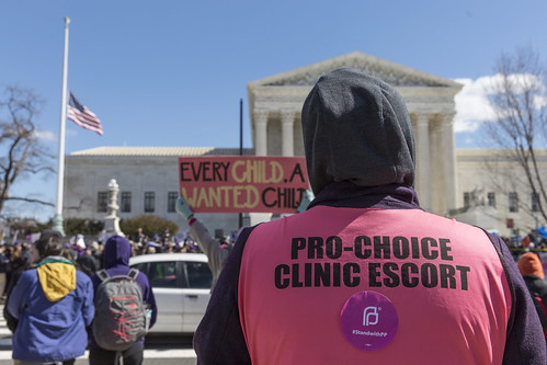 Pro-Choice Clinic Escort   by Lorie Shaull