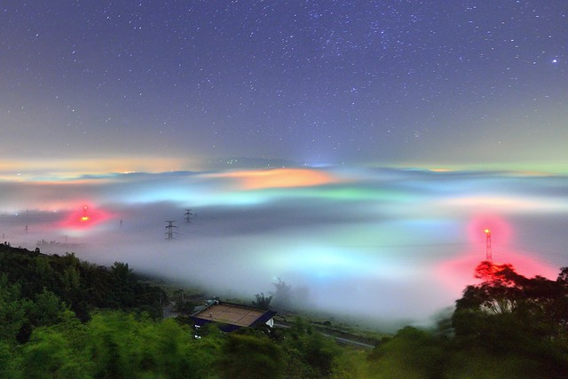 橫山仙境~夢幻琉璃~  Colored glass Clouds