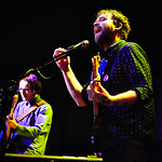 Wed, 30/03/2016 - 6:46pm - The Glasgow-based Frightened Rabbit (Scott Hutchison, Grant Hutchison, Billy Kennedy, Andy Monaghan, and Simon Liddell) perform for WFUV Members at Rough Trade NYC in Brooklyn, 3/29/16. Photos by Gus Philippas/WFUV