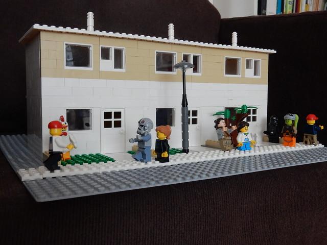 Row houses LEGO rijtjeshuizen MOC