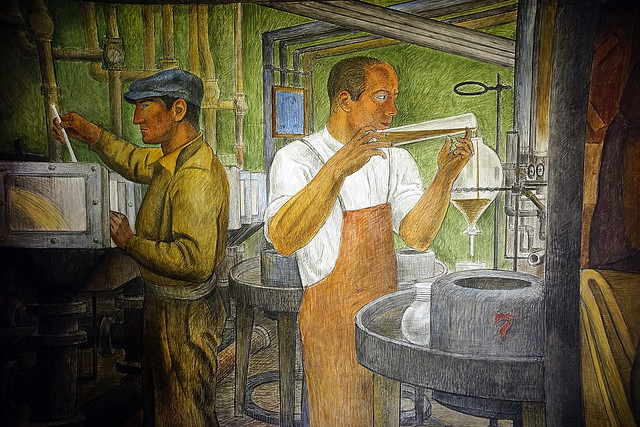 Coit Tower murals - Chemical engineering