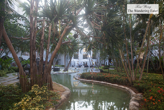 Water feature in the back area of Grand Cayman Marriott Beach Resort