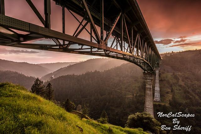 Foresthill Bridge Sunset