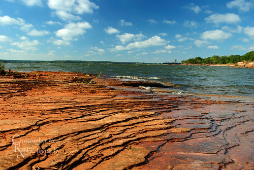 sky lake art oklahoma public water rock clouds outdoors photography sandstone outdoor hiking fine christopher adventure layers neel arcadia supply garber