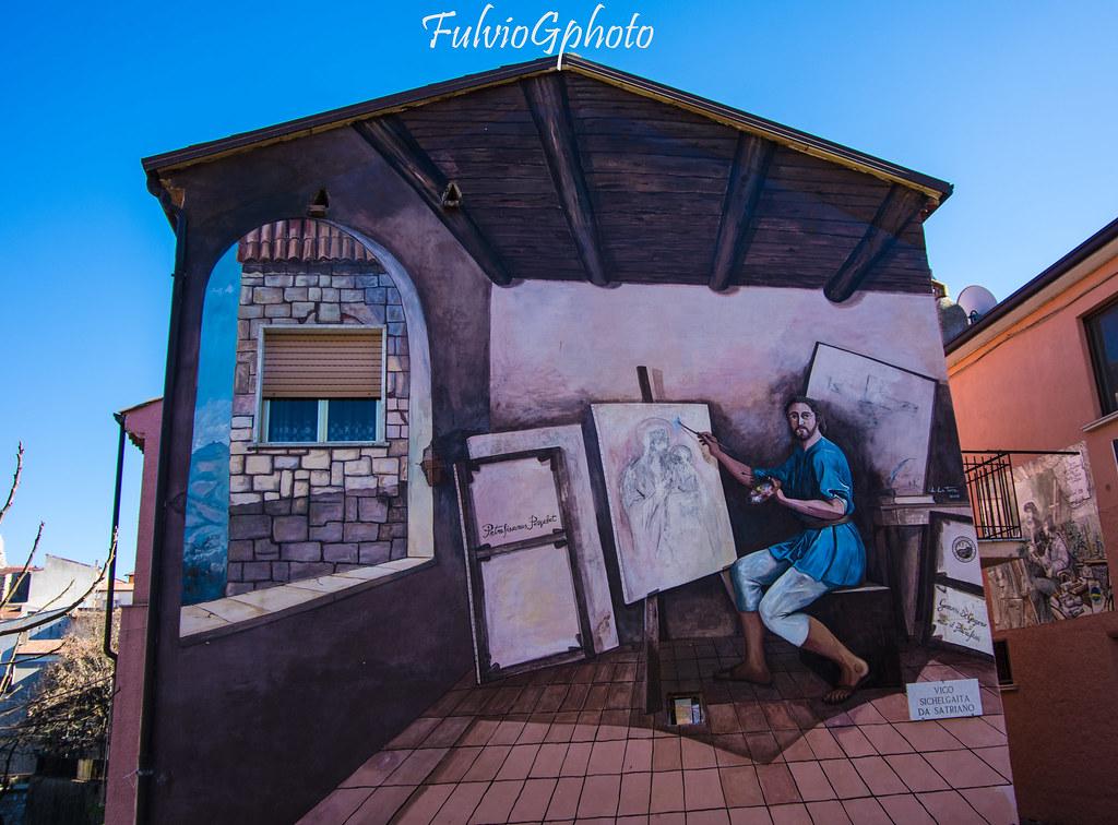 Satriano Di Lucania Murales.Murales Satriano Di Lucania Fulvio Giannitti C 2016 Flickr