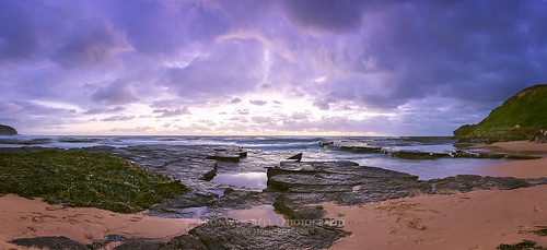 light panorama seascape beach sunrise canon eos dawn seaside sand rocks long exposure surf waves pano low panoramic