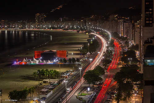 Copacabana Beach at night | by Phil Marion (173 million views - THANKS)