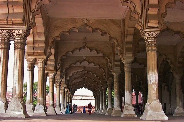INDIEN-Agra,  Agra Fort Diwan I Am (Hall of Public Audience), gigantic, 13421/6337