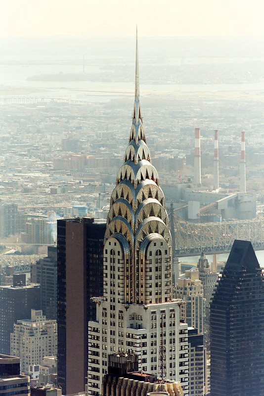 The top of Chrysler Building