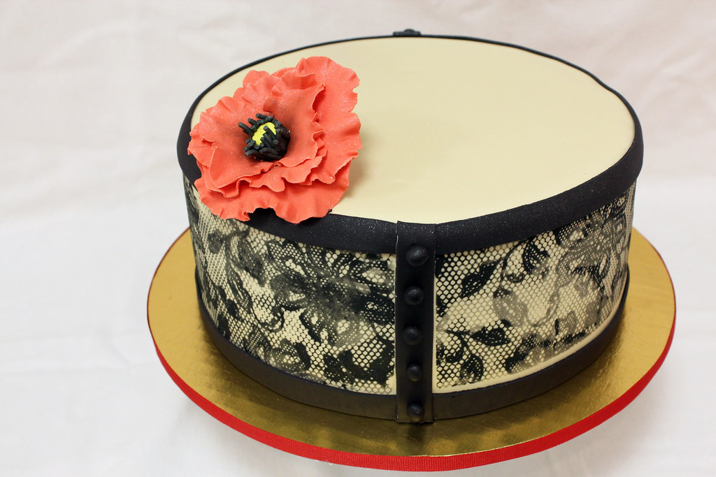 Lace And Flower Designer Cake