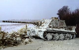 """1:72 SdKfz. 181 Jagdpanzer VI """"Keiler""""; 2nd Company, Panzerjägerabteilung 512, Ruhrgebiet region, February 1945 (Whif/Trumpeter kit conversion)   by dizzyfugu"""