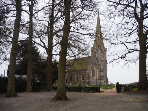 St. Matthews, Midgham SWC Walk 260 Aldermaston to Woolhampton [Midgham Station] (via Frilsham)
