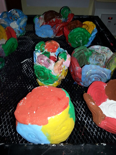 Clay coiled bowls and St. Patrick 's Day trinket boxes. | by faugherschool1