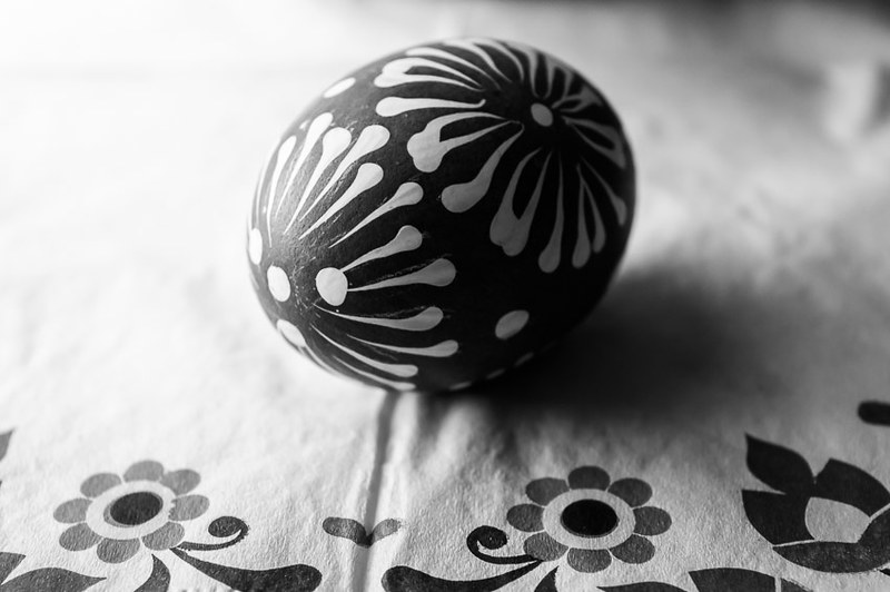 traditionally painted Easter egg