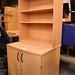 Tall beech laminate 2 door storage unit