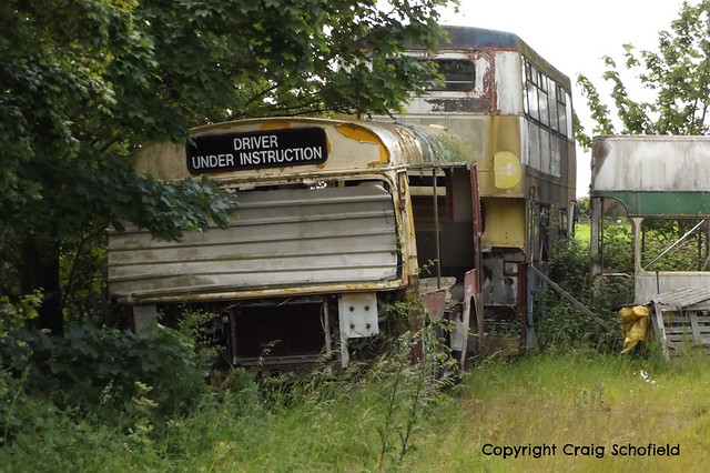 The remains of Bristol LH DTL542T in Waddington, Lincoln, 28/06/2015