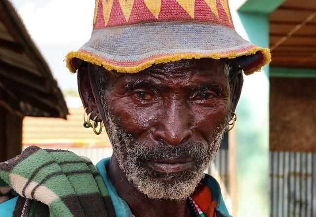 Tsamai old man, living in Demeka (Ethiopia)