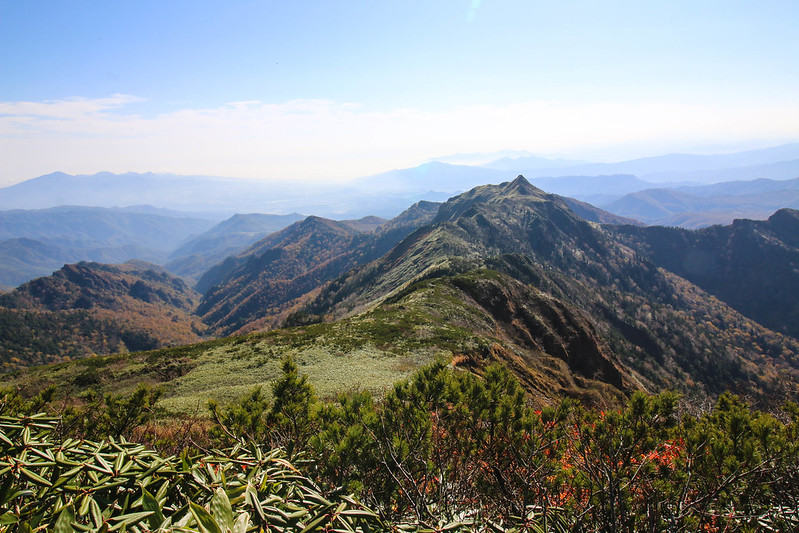 上州武尊山の山頂から