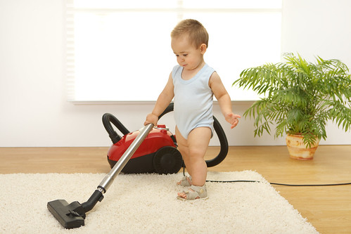 Baby Boy With Vacuum Cleaner | by aqua.mech