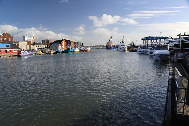View from the Poole to Hamworthy Bridge