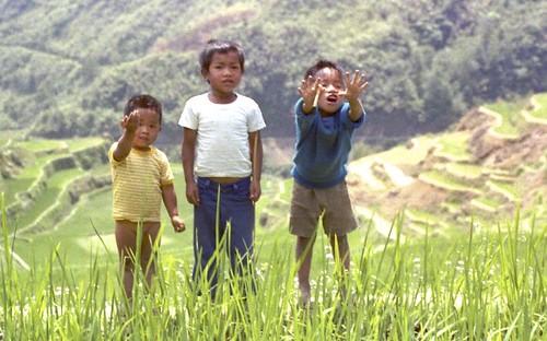 banaue children luzon bontoc philippines riceterraces