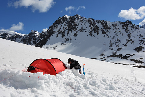 Camping in the Chugach, just east of Anchorage. Chugach State Park, Chugach Mountains, Alaska | by Paxson Woelber