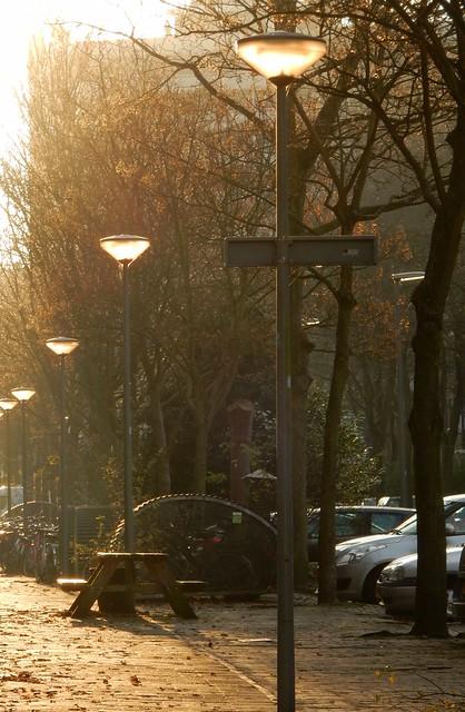 Solar powered street lamps