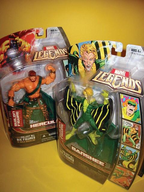 Hasbro Marvel Legends Wave 1 | Hercules and Banshee in packa