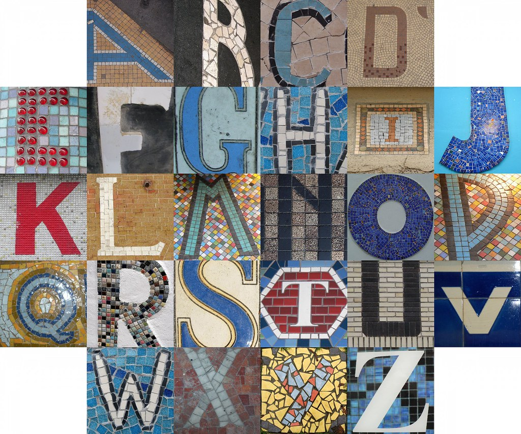 Tile And Mosaic Letters Postings To The Themed Alphabets