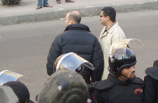 State Security officers Sherif el-Qamaty and Amr Mohsen