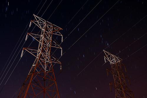 night stars lowlight powerlines startrails debary slowspeed colorphotoaward canonef24mmf28 debarymemorialpark