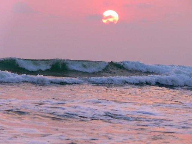 Sunset, Sea and Waves, Wadduwa, Sri Lanka 1