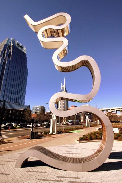 Light Meander - Nashville public art