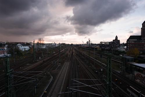 sunset sky urban storm berlin germany landscape cloudy railway blizzard francesco moccia
